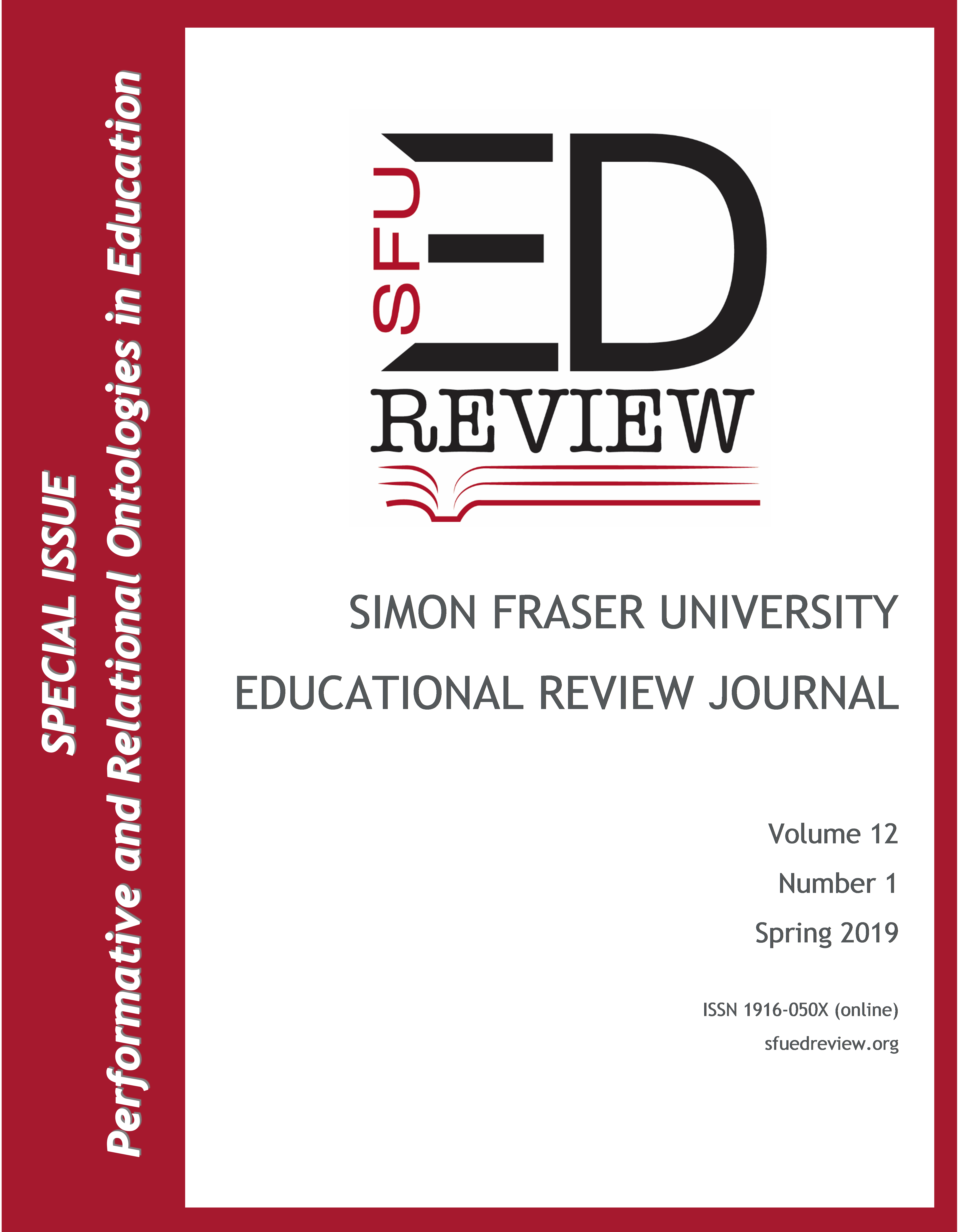 Letter from the Editor   SFU Educational Review
