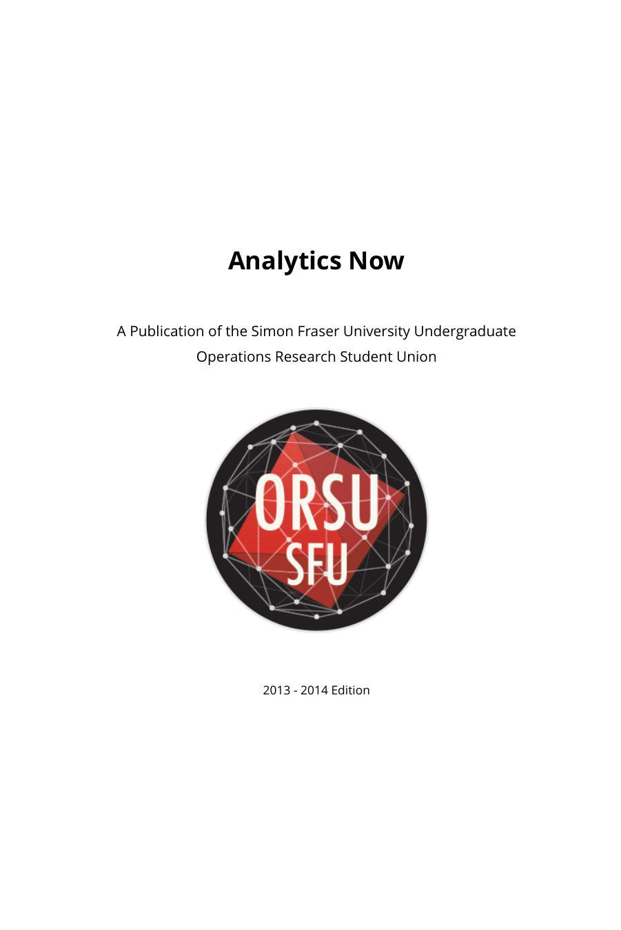 View Analytics Now 2013-2014 Edition